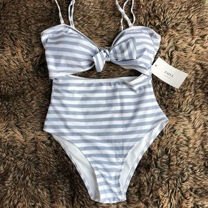 Zaful Cut-Out One Piece Bathing Suit
